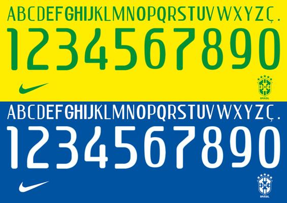 ブラジル代表フォント